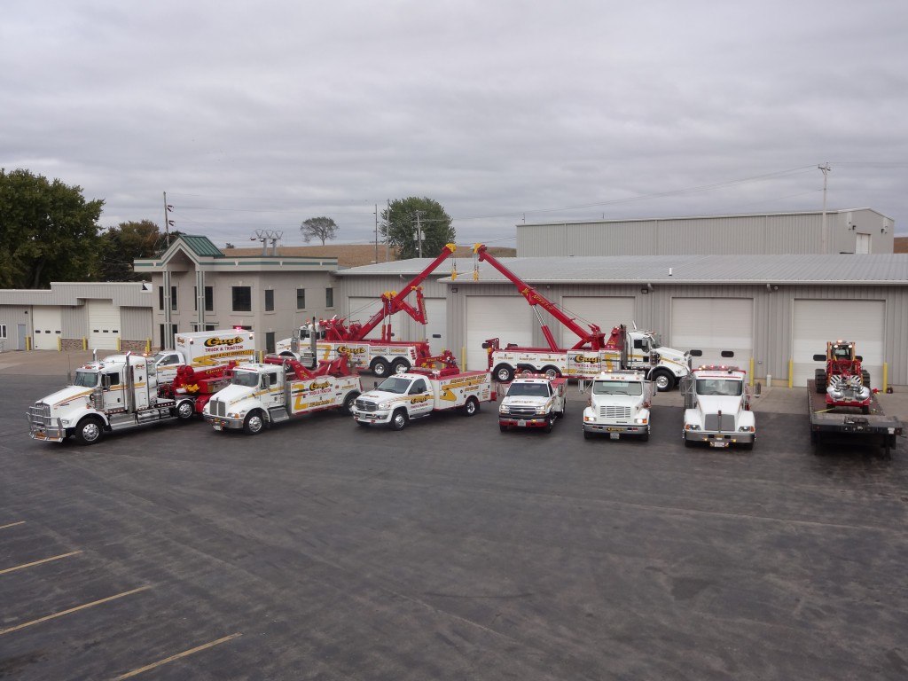 Guys Truck and Tractor Service's fleet of vehicles